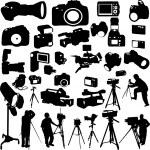 Cameras — Stock Vector
