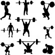 Weightlifters - Stock Vector