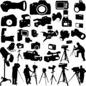 Câmeras — Vetor de Stock