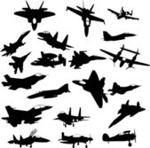 Military plane — Stock Vector