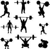 Weightlifters — Vetorial Stock