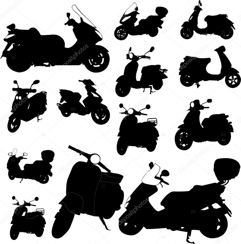 Scooter motorcycle - vector  Stock Vector #2444300