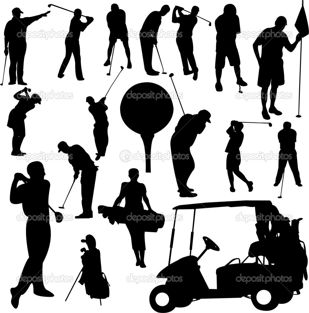 Set of golf  - vector — Stock Vector #2445117