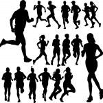 Running — Stock Vector