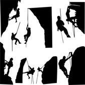 Rock climbers — Stock Vector