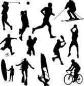 Recreation sport — Stock Vector