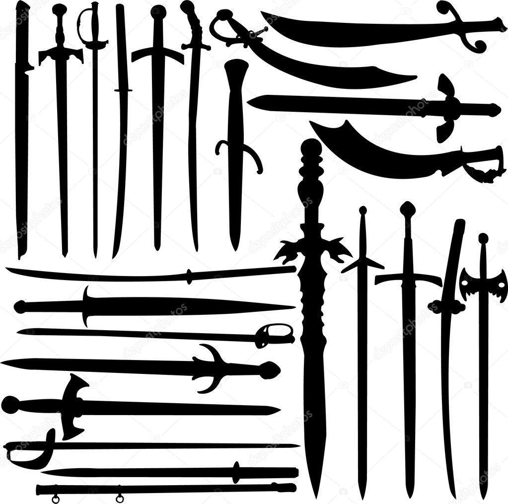 Swords collection vector — Stock Vector #2547518