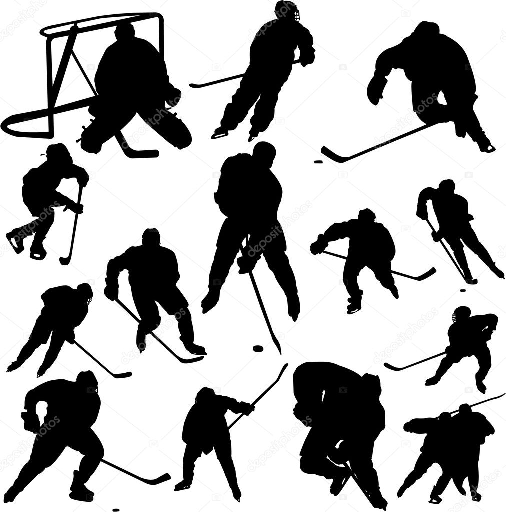 Collection of hockey vector — Stock Vector #2547527