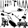 Royalty-Free Stock Imagem Vetorial: Garden tools