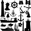Nautical elements — Stock Vector