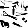 Hair equipment - Stock Vector