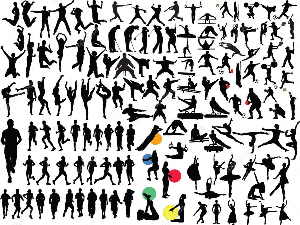 Big collection of in different sport - vector  Stock Vector #2003563
