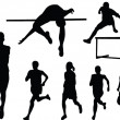Royalty-Free Stock Vector Image: Athletics silhouette collection