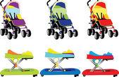 Baby equipment 5 — Stock Vector