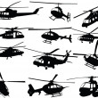 Royalty-Free Stock Vector Image: Big collection of helicopters