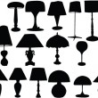 Stock Vector: Big collection of lamps
