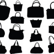 Big collection of purses - Stock Vector