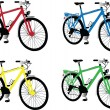 Bike in different colors — Stock Vector