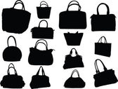 Big collection of purses — Stock Vector
