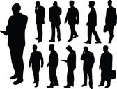 Businessmen collection silhouette — Stock Vector