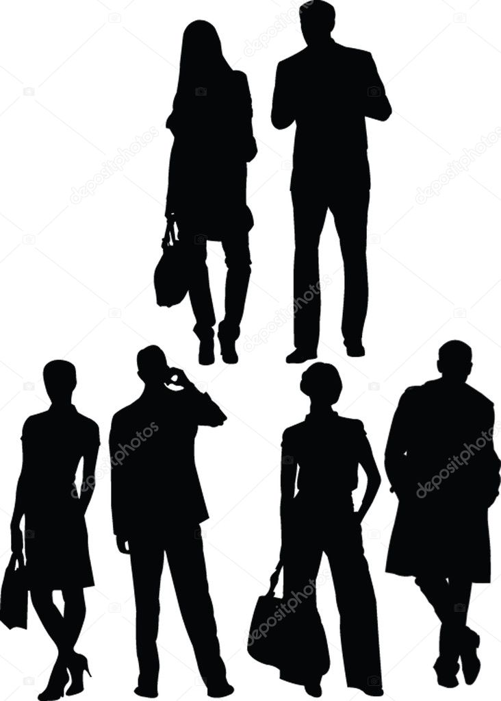 Business silhouette - vector — Stock Vector #2119235