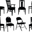 Chairs collection — Stock Vector