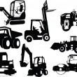 Collection of construction machine - Stock Vector