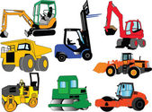 Collection of construction machine — Stock Vector