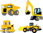 Construction machines collection — Stock Vector