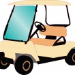 Golf car — Stock Vector