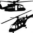 Helicopter silhouette collection - Stock Vector