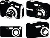 Camera collection — Stock Vector