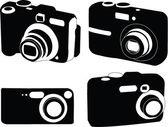 Camera collection — Stock Vector