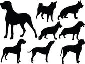 Dog silhouette collection 3 — Stock Vector