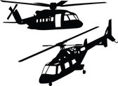 Helicopter silhouette collection — Stock Vector