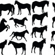 Royalty-Free Stock Vector Image: Horses collection 2