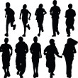 Kids running silhouette — Stock Vector #2182986