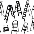 Ladders collection — Stock Vector #2183031