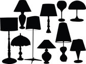Lamps collection — Stock Vector