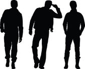 Man silhouette collection 2 — Stock Vector
