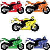 Motors in different color — Stock Vector