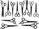 Scissors collection — Stock Vector