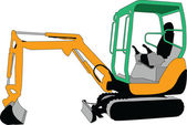 Skid loader 2 — Stock Vector