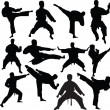 Royalty-Free Stock Vector Image: Karate fighters collection
