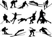 Kış spor koleksiyonu — Stok Vektör