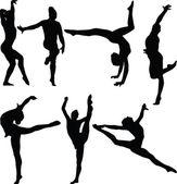 Gymnastics collection 2 — Stock Vector