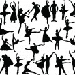 Big ballet collection — Stock Vector