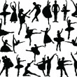 Big ballet collection - Stock Vector
