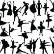 Big ballet collection — Stock Vector