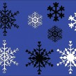 Snowflake with background 2 — Stock Vector
